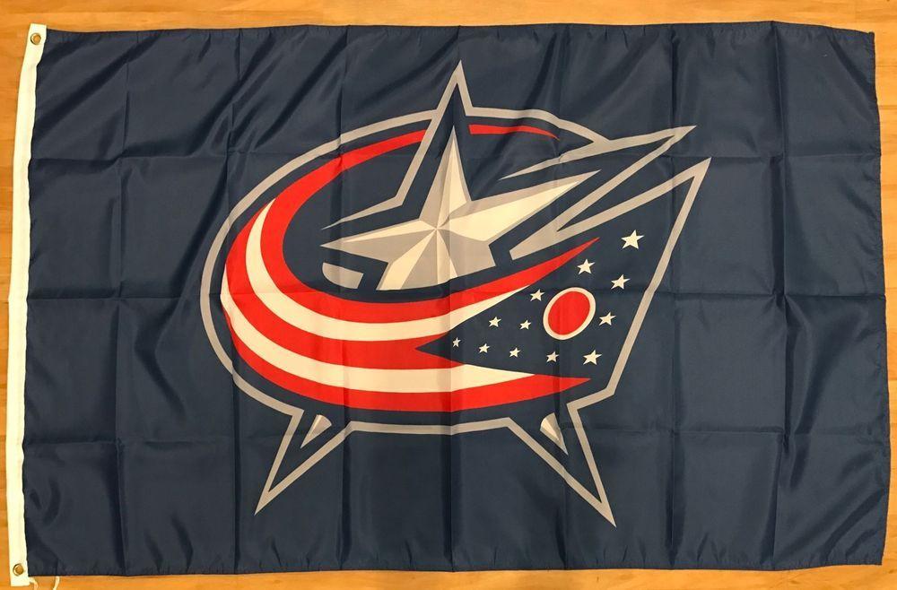 NHL Columbus Blue Jackets Hockey Flag Banner 3x5 Man Cave