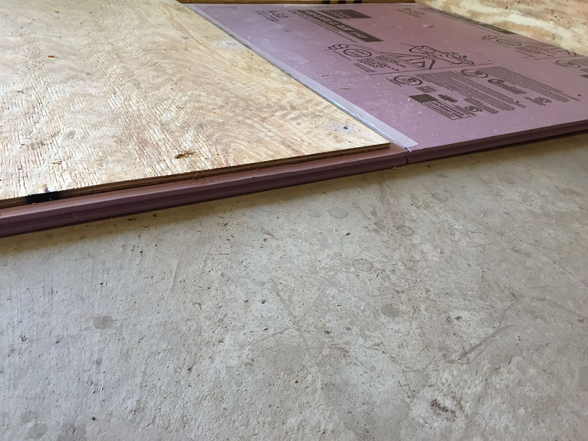 The Floor Is Insulated Using 1 Quot Rigid Foam Insulation With