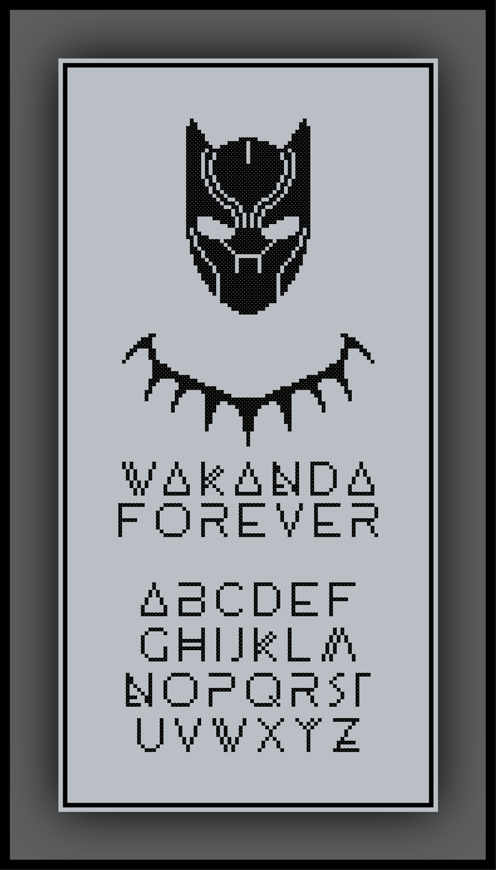 a36f09d0b Patreon Only Black Panther Cross Stitch Pattern Wakanda Forever ...