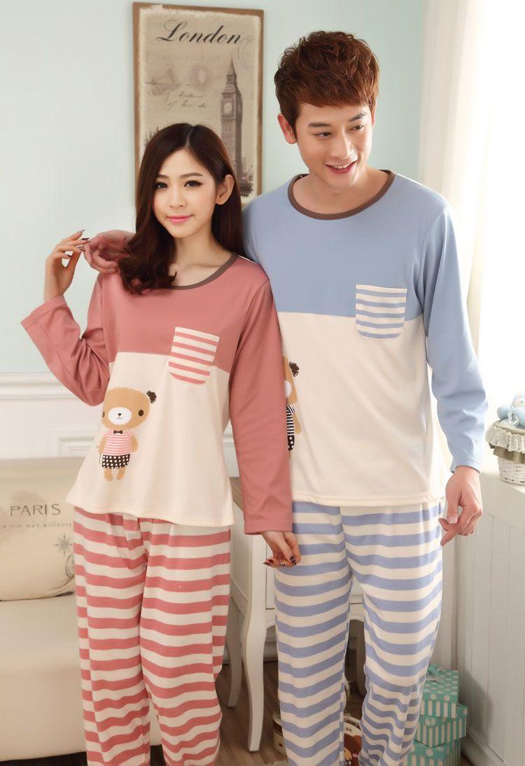 444d7892a2 korean couple pajamas - Google Search | Sleep | Couple pajamas ...