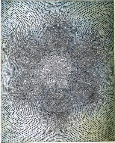 Linn Meyers #circle #circular #spherical #mandala #postmandala