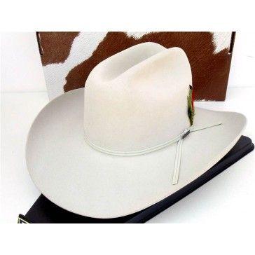 Resistol Cowboy Hat 4X Beaver Fur Silverbelly Derrick  145ae935bf9d