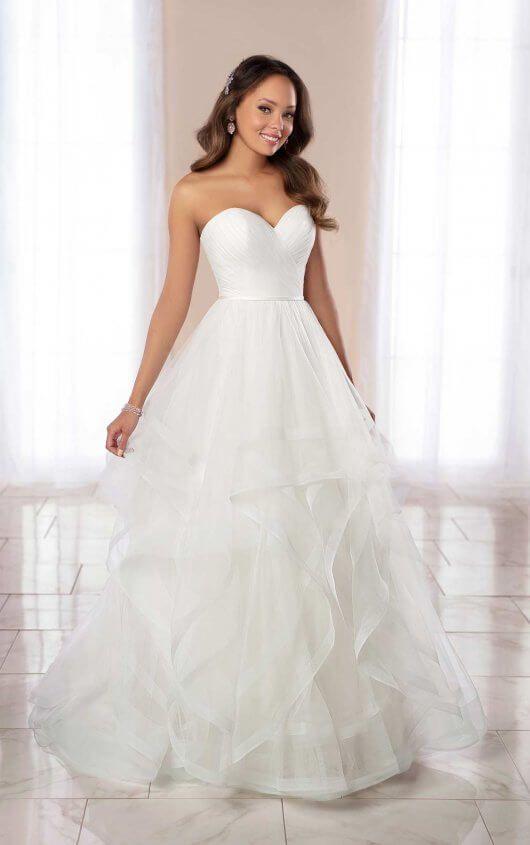 Strapless Ballgown Wedding Dress With Horsehair Skirt. | Kleinfeld Bridal
