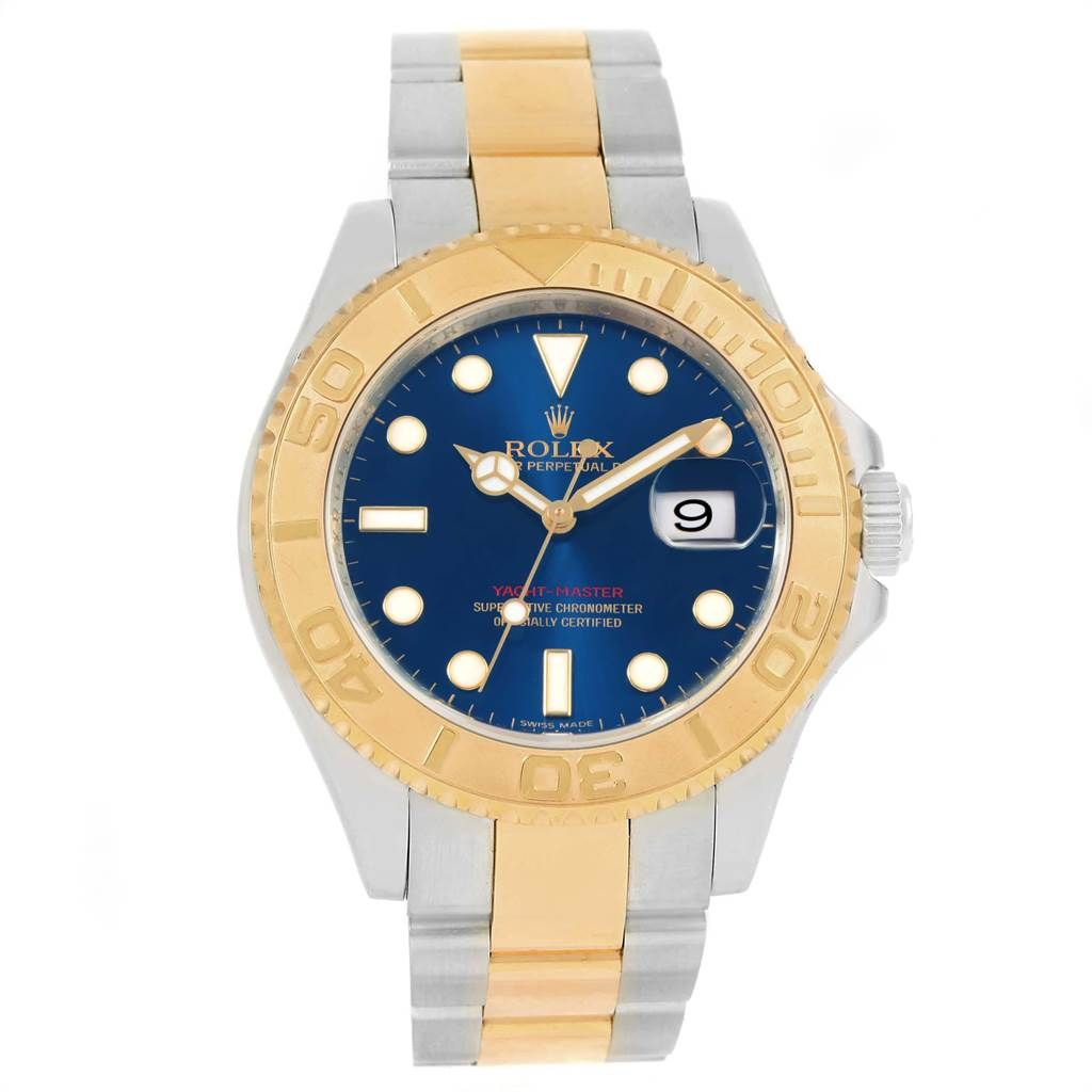 Rolex Yachtmaster 40mm Steel Yellow Gold Blue Dial Mens