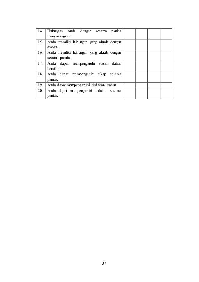 Skripsi Mini Kuantitatif Efektivitas Komunikasi Organisasi Panitia Sum Of Squares Mini Prose