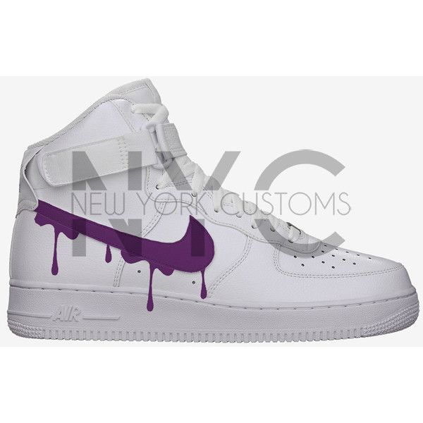 Purple Drip Nike Air Force 1 High Top White Men Blue Gold Red
