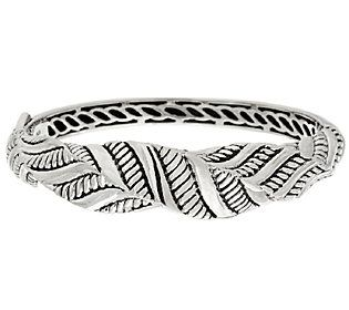 JAI Sterling Sukhothai Twisted Hinged Bangle Bracelet