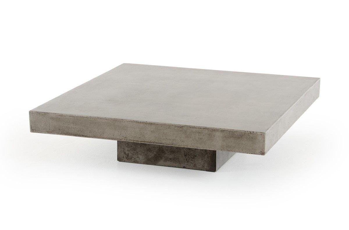 VIG Modrest Morley Modern Concrete Coffee Table VGGR