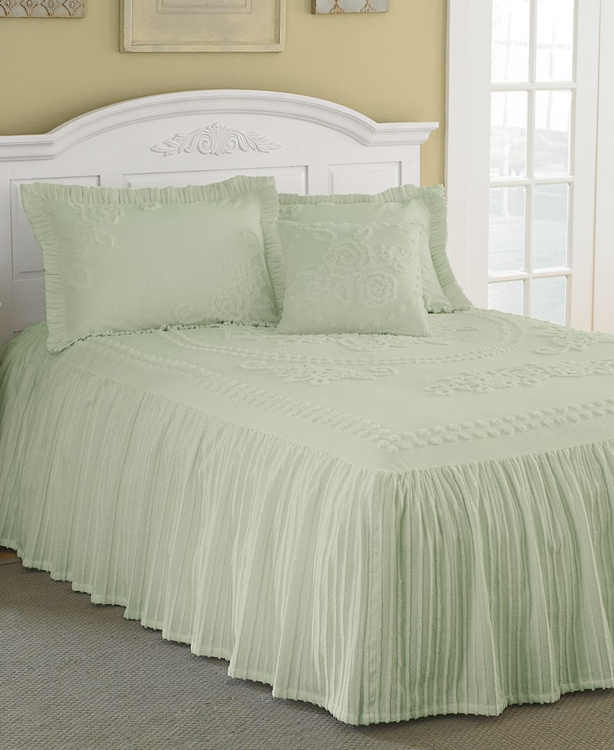 Bedspread designs texture - Mary Jane Chenille Tufted Twin Bedspread