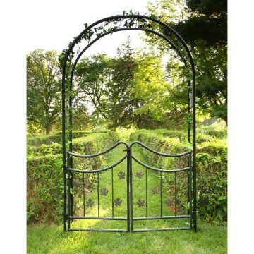 Tierra Derco Bacchus 7.75 Ft. Iron Arch Arbor With Gate. Perfect Gift