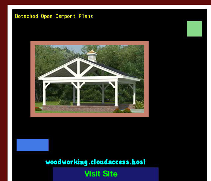 Detached Open Carport Plans 154025 - Woodworking Plans and Projects!