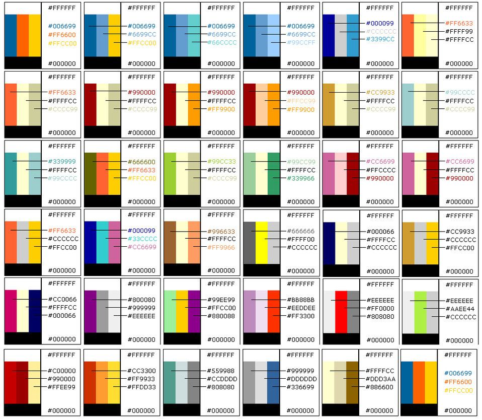 Color Charts Three Color Combinations Good Color Combinations Colours That Go Together