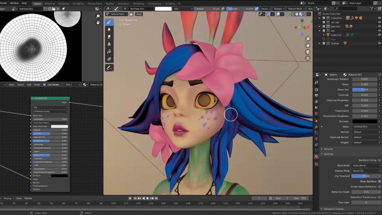Blender Neeko 3d Modeling Without Sculpting Timelapse 3d Model Fan Art Character Modeling