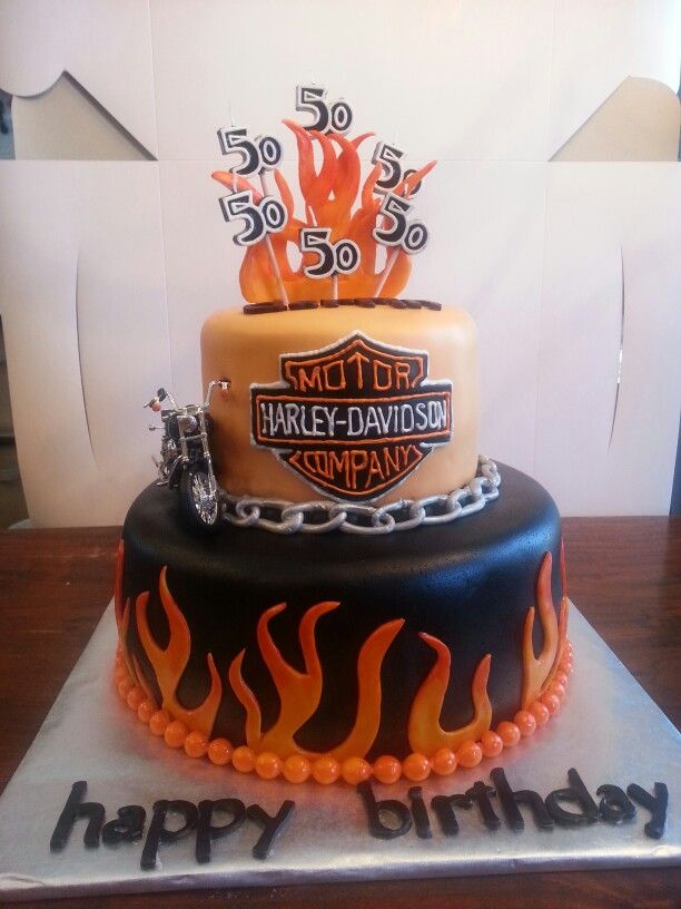 Harley Birthday Cake By Gtbiscuit Cakes By Gtbiscuit Pinterest