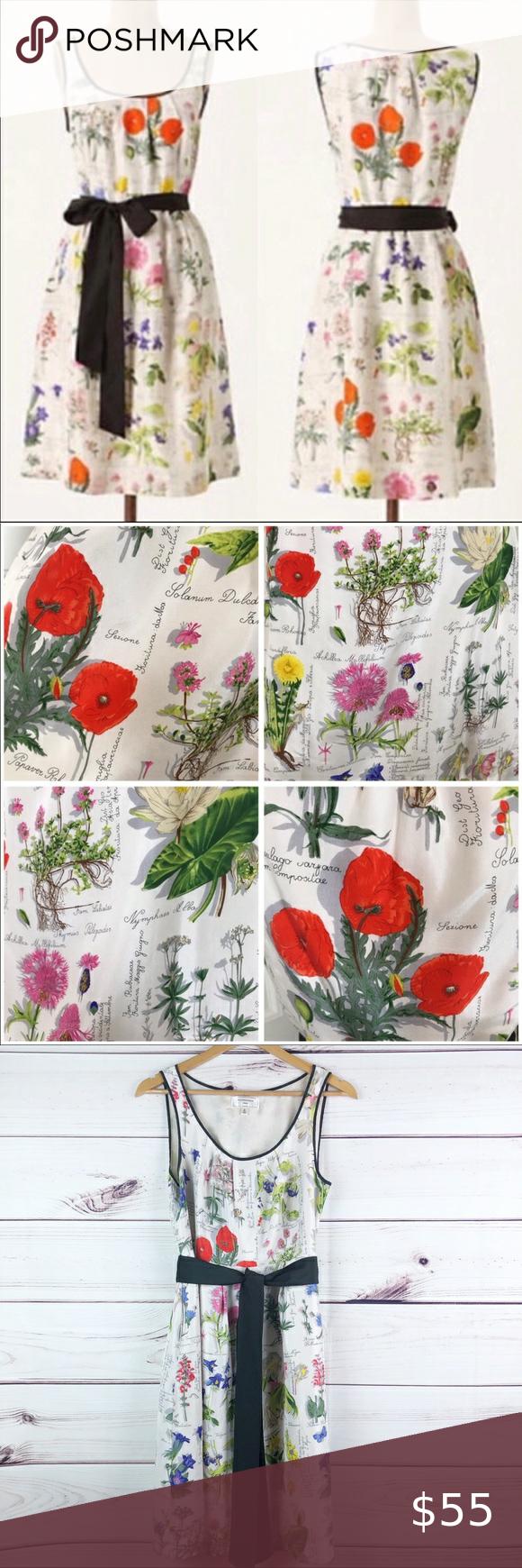 Anthropologie 100/% Silk Floral Dust Bag **New**