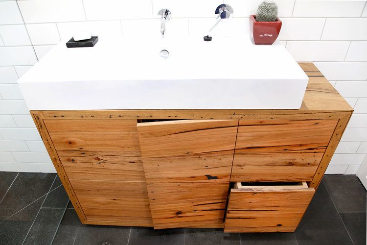 Floor mounted timber vanity unit with storage beautiful bathrooms pinterest beautiful for Floor mounted vanity units bathroom