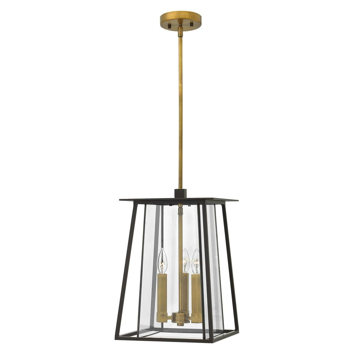 Bold Bronze And Brass Outdoor Pendant