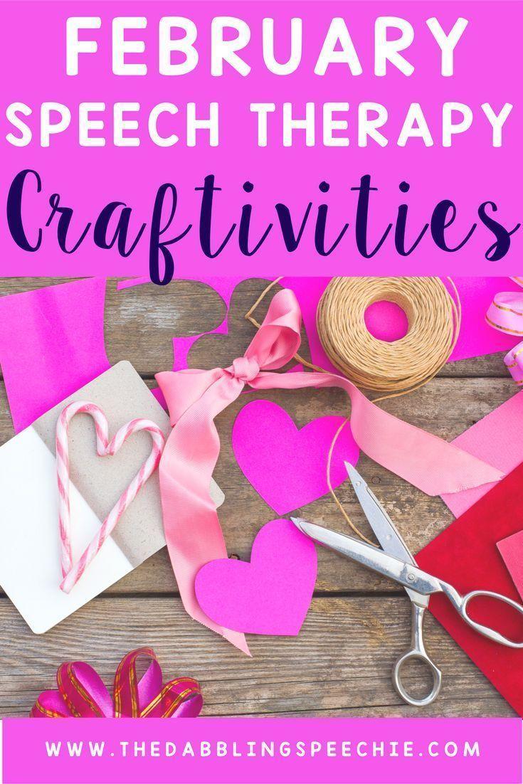 February Speech Therapy Craftivities