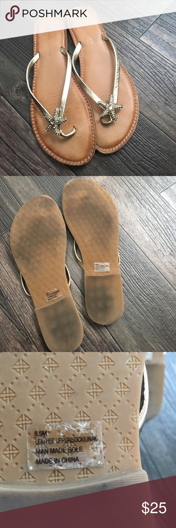 4986b460c0f748 Worn a few times while on honeymoon and haven t worn them since. Upper  leather. Bottom sole man made material. ANTONIO MELANI Shoes Sandals