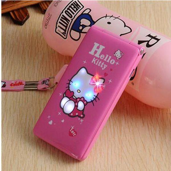 US $28.05 15% OFF|hello kitty 1800mAh Flip Dual SI