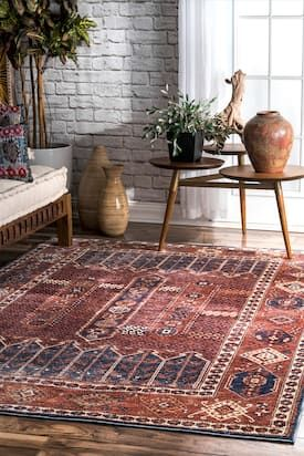 Rugs Usa Rust Temptation Tribal Emblematic Tokens Rug