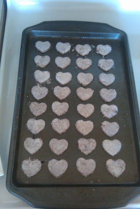 Hound Hearts-shredded chicken,honey+ raspberries
