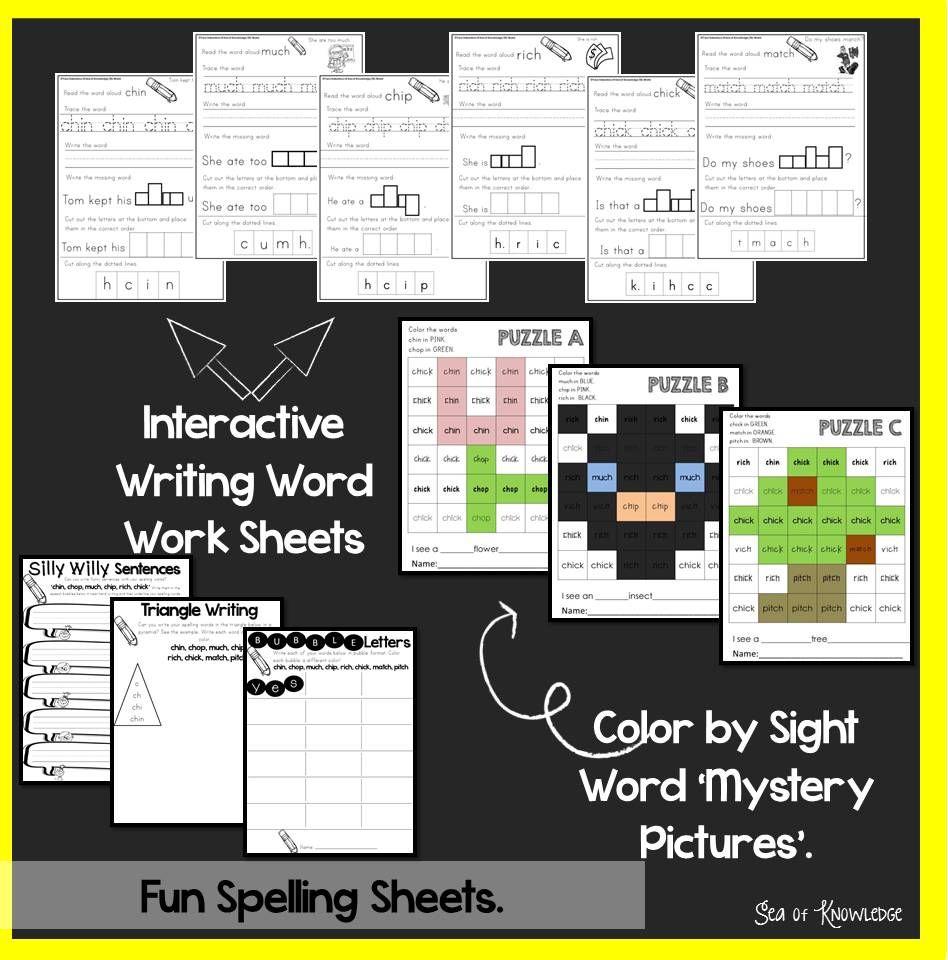 Spelling Interactive Activities Word Work Lesson  Grade