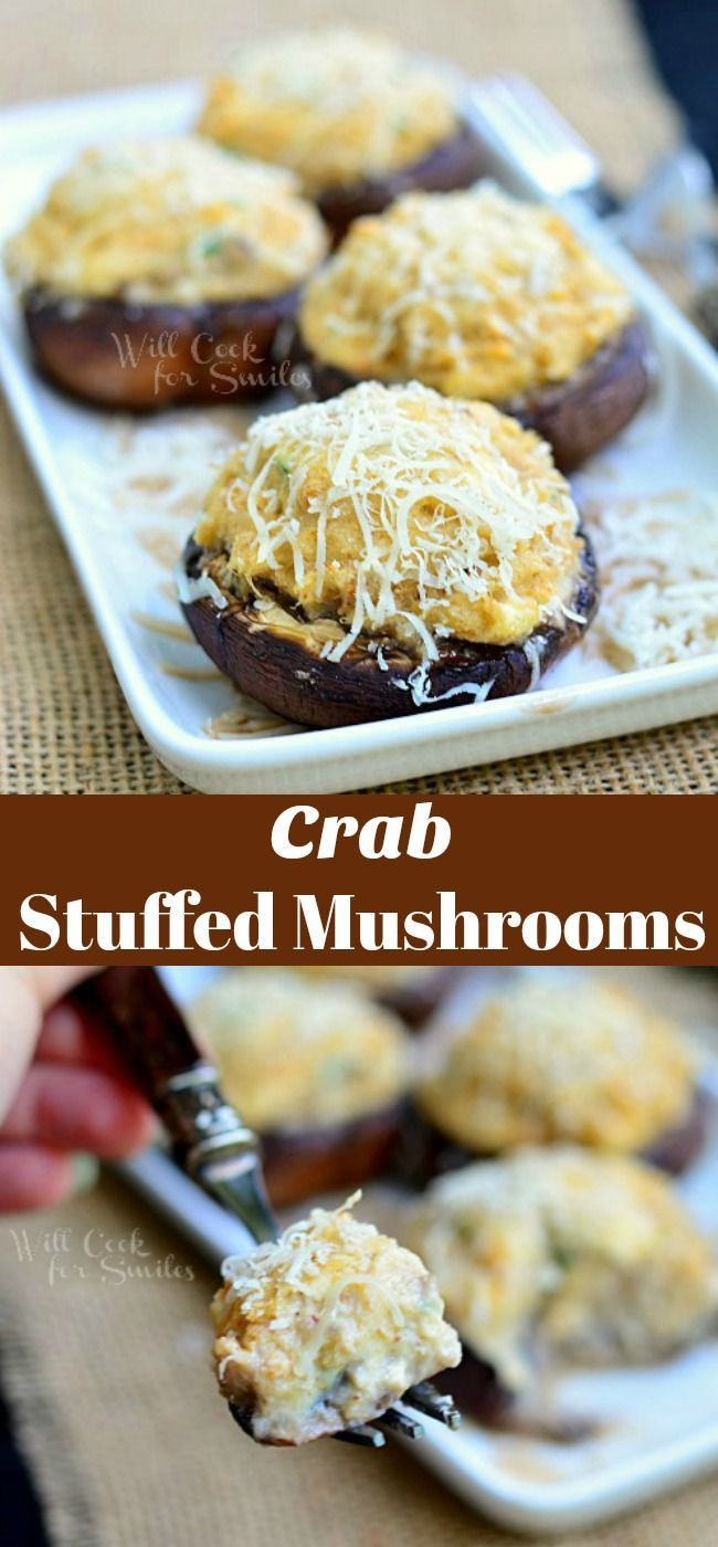 Crab Stuffed Mushrooms - Perfect Party Appetizer And So Easy