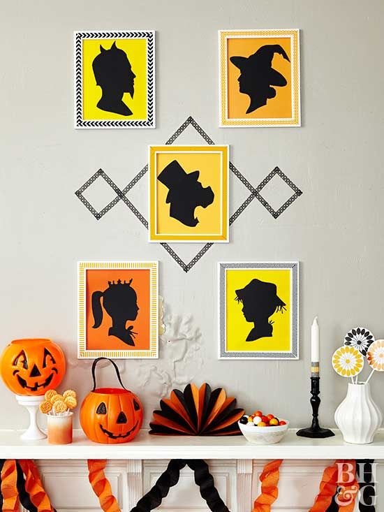 25+ Stylishly Spooky Halloween Mantel Ideas Witch decor, Retro