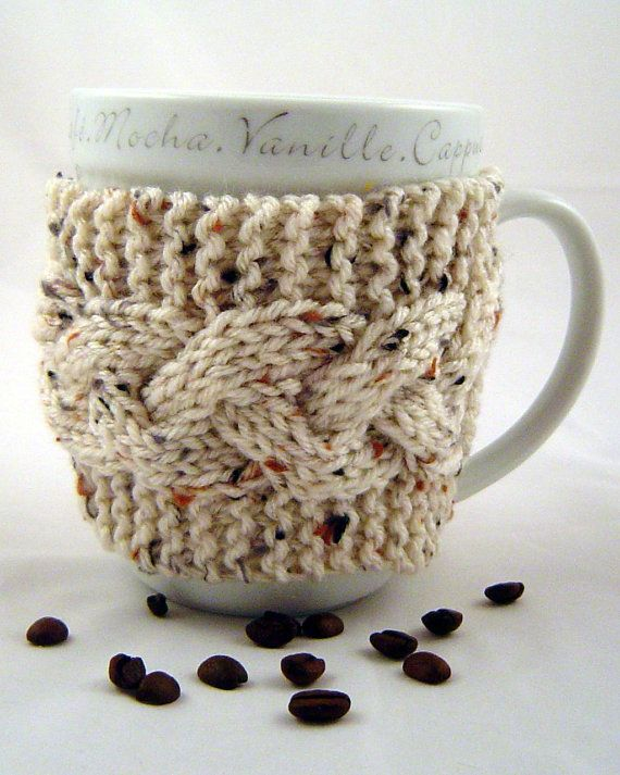 Knit Cable Toasty Mug sleeve