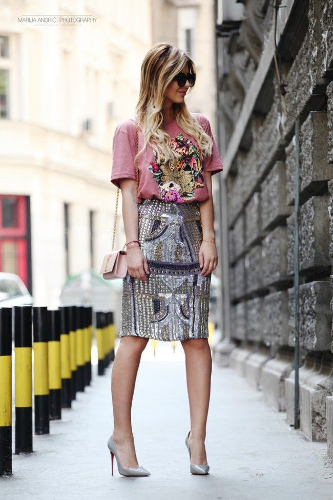 skirt, casual, chic, streetstyle