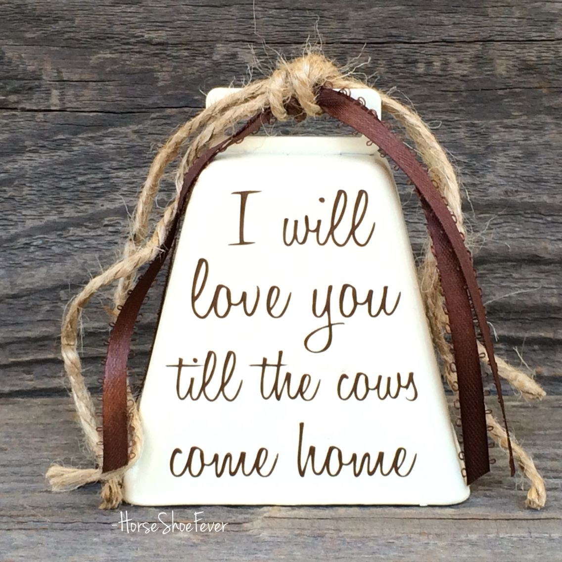 Cowbell Decor. HorseShoeFever On Etsy. Cowgirl, Cowboy, Cattle, Cows, Rustic
