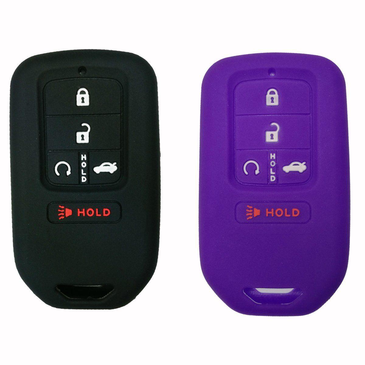 2Pcs Coolbestda Smart Key Fob Skin Cover Case Jakcet Shell