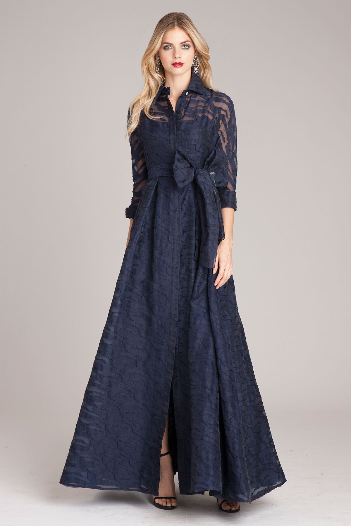 005d056dfd3a Belted Collar Gown