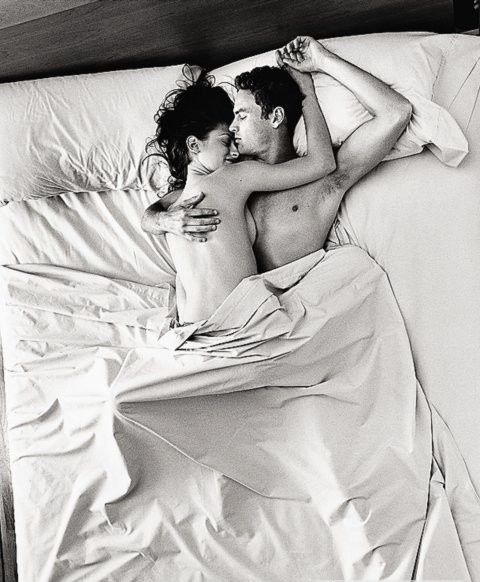 Young Sexy Naked Heterosexual Couple Making Love In Bed Stock Photo