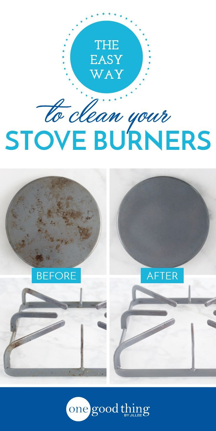 This Is The Easiest Way To Clean Your Stove Burners One Good Thing By Jillee Clean Stove Cleaning Hacks Deep Cleaning Tips