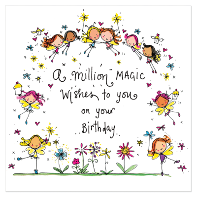 Juicy lucy designs greeting card a million magic wishes to you juicy lucy designs greeting card a million magic wishes to you on your birthday bookmarktalkfo Image collections
