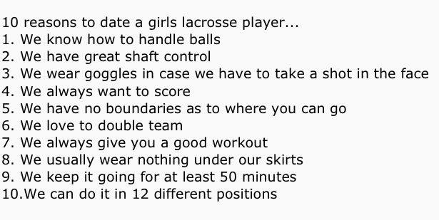 Dating a lax girl