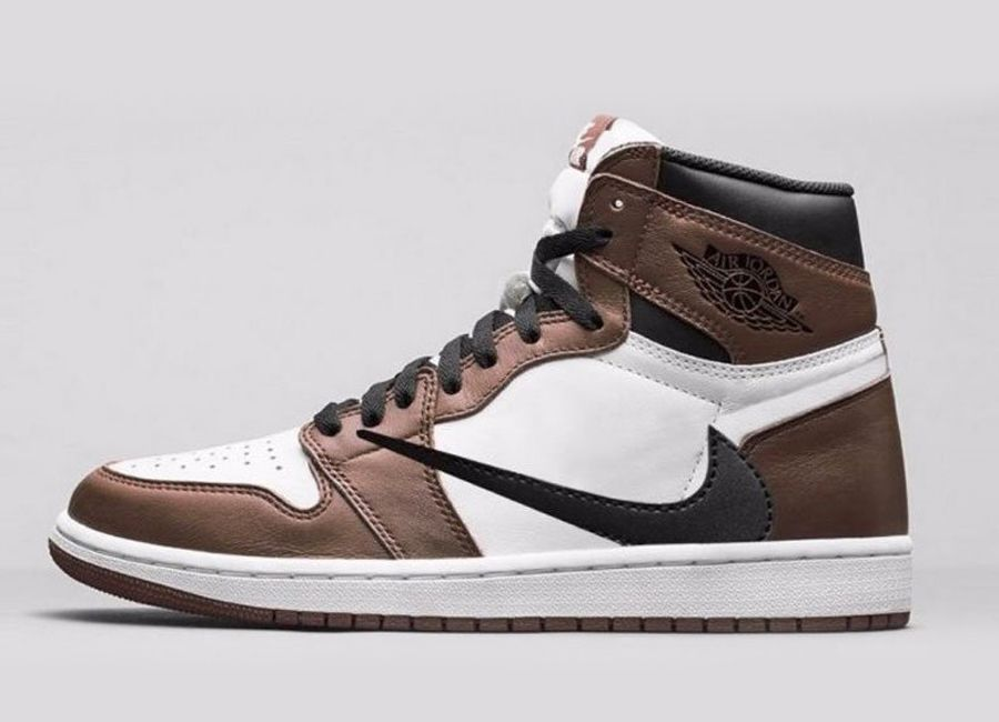 9a444d58e52 Apr 2019 Air Jordan 1 High OG TS x Travi$ Scott Sail/Dark Mocha/University  Red-Black N/A Download the Sneaker Crush here: snkcr.sh/2dDpWOC