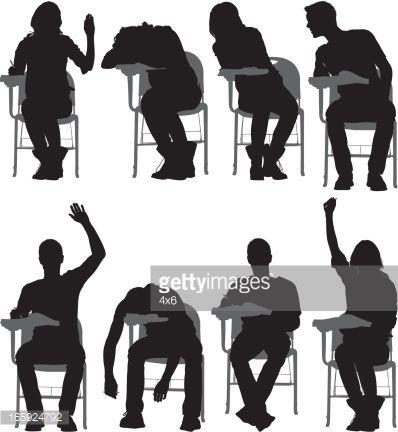 Multiple Images Of Students Sitting On Writing Photoshop Illustration People Figures Anatomy Art