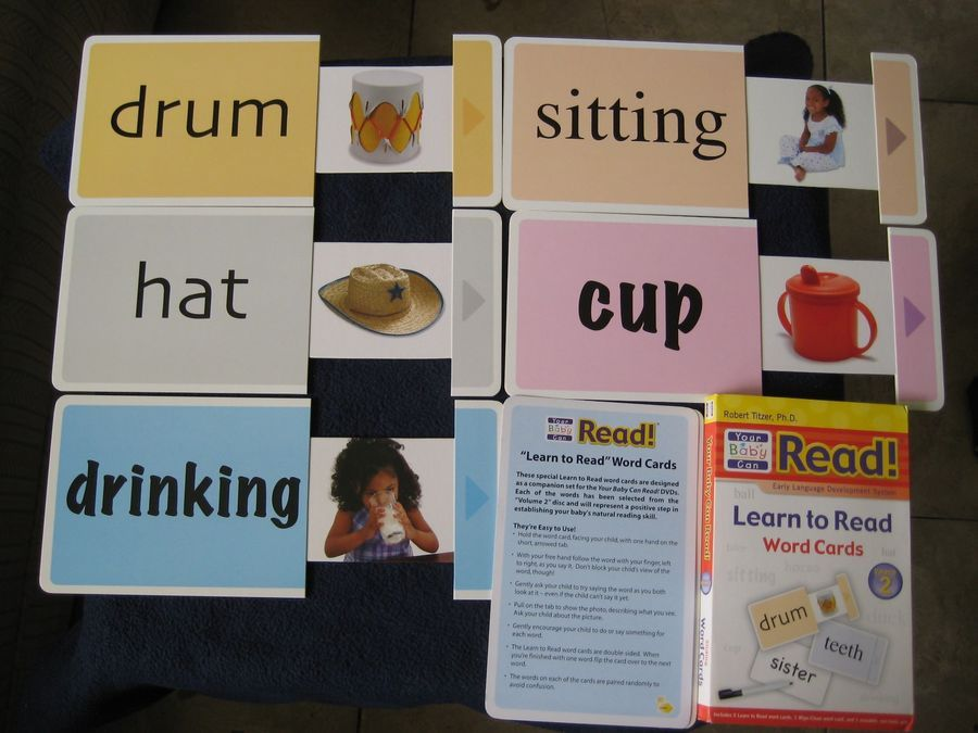 Your Baby Can Read Sliding Word Cards Starter Vol 1 2 Review