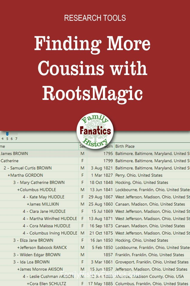Learn how a genealogy software program, such as RootsMagic, can help you find more relatives and ancestors. #genealogyresearch #ancestry #genealogyskills #FHFanatics #FamilyHistoryFanatics #genealogy