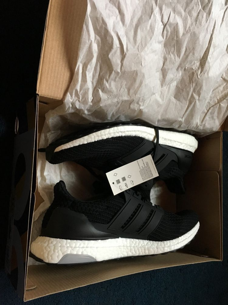ebcfca6181b3a NEW Adidas Ultra Boost Men s Running Shoes Black colorUS Shoe size ...