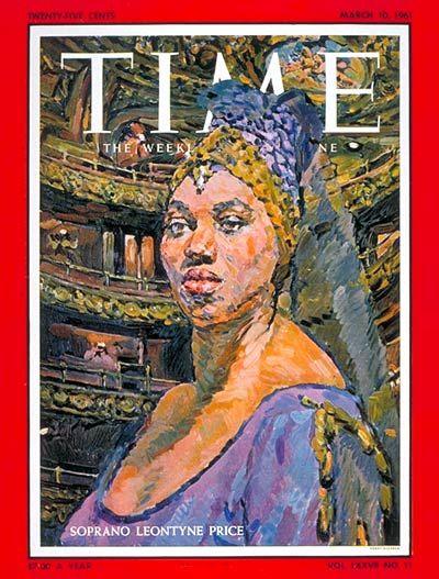 Leontyne Price, Time Magazine cover, Mar. 10, 1961