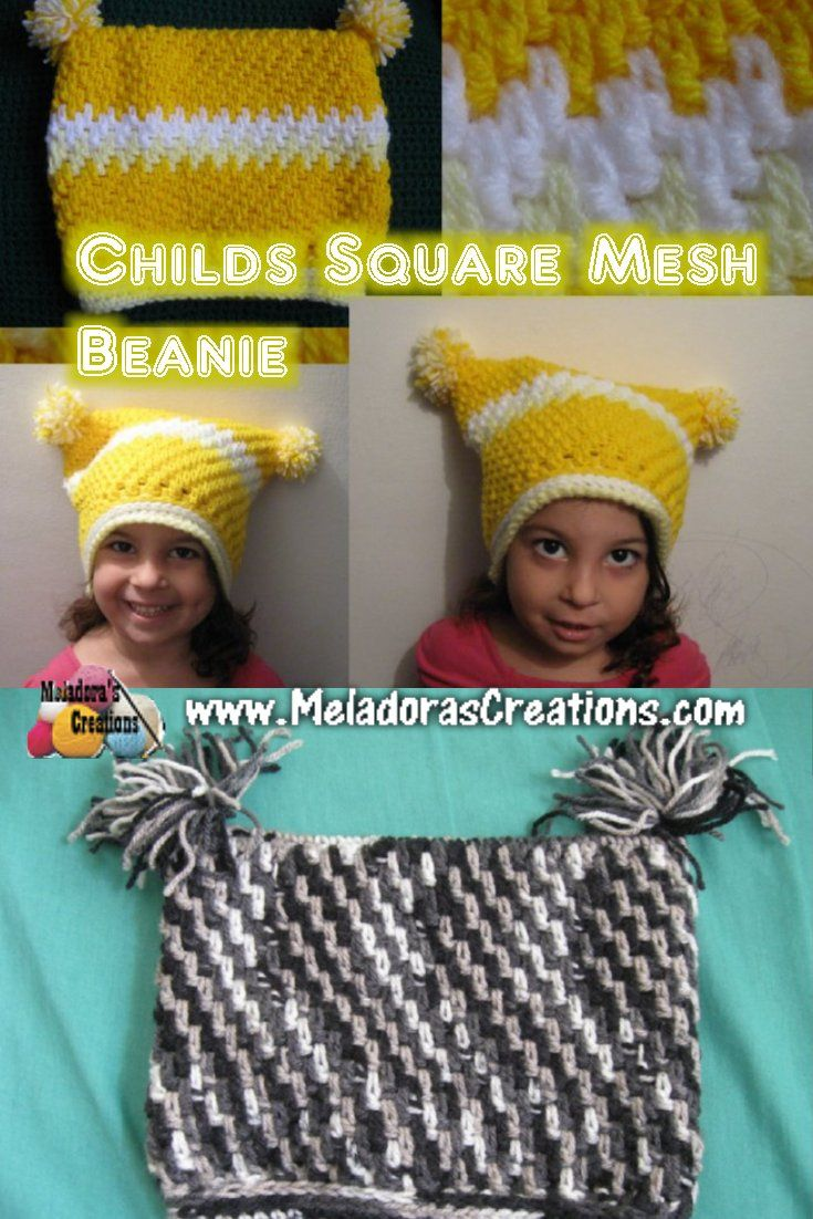 This Free Crochet pattern teaches you how to crochet a square hat ...
