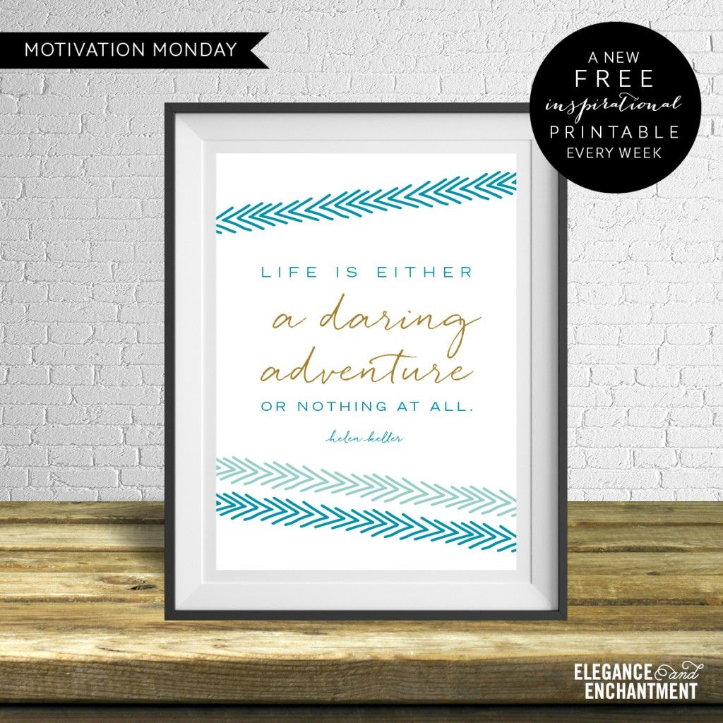 Motivation Monday Free Weekly Printable Life Is A
