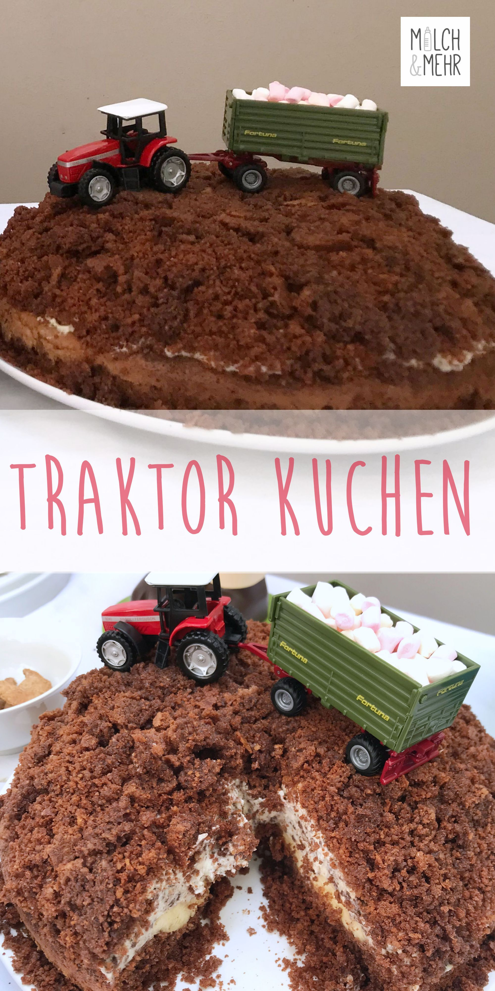 Traktor Kuchen Ohne Fondant Traktor Kuchen Kuchen Mit Fondant Kuchen Kindergeburtstag Traktor
