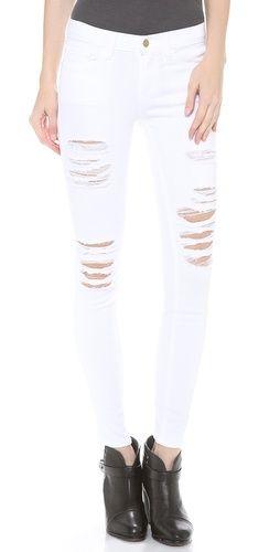 FRAME Denim Le Color Rip Skinny Jeans | { fashion } | Pinterest ...