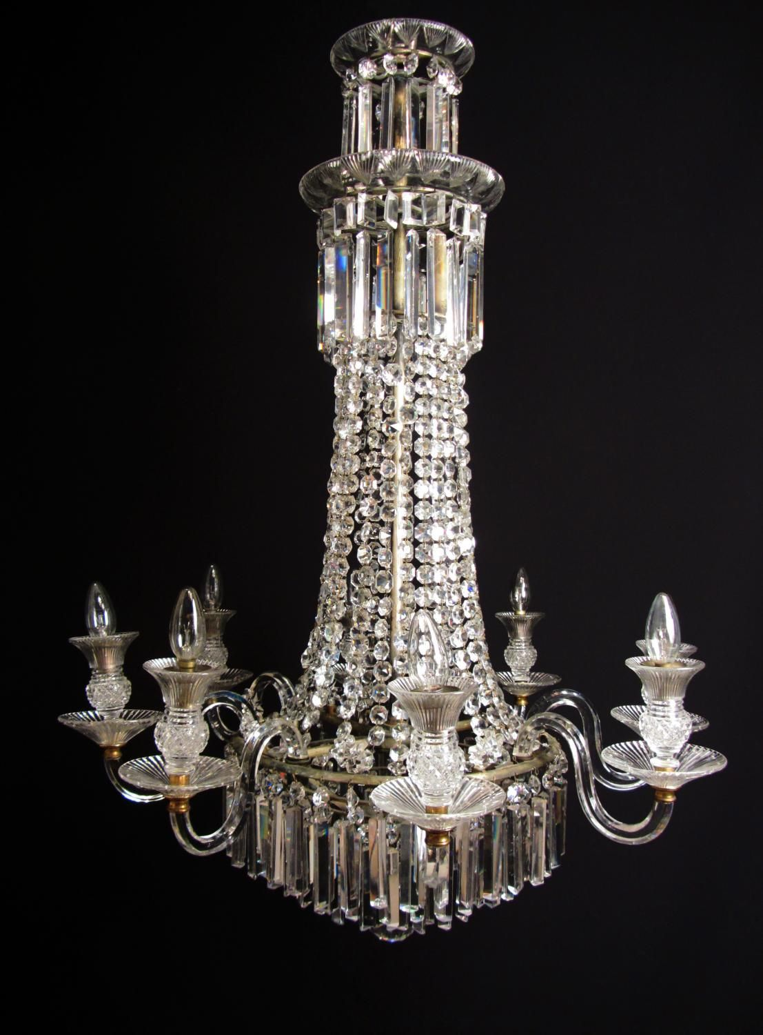 An important english regency chandelier picture 1 chandeliers an important english regency chandelier picture 1 mozeypictures Choice Image