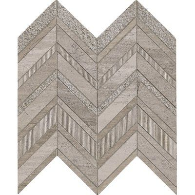 MSI Chevron Marble Mosaic Tile in Gray
